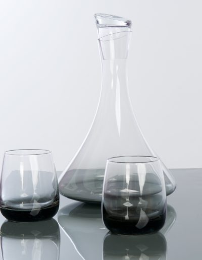 Smoked Decanter and Tumblers